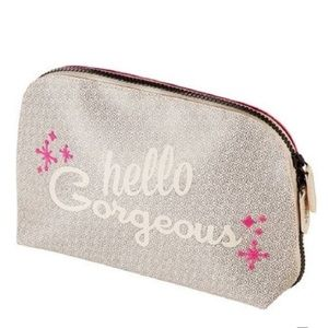 hello gorgeous make up bag